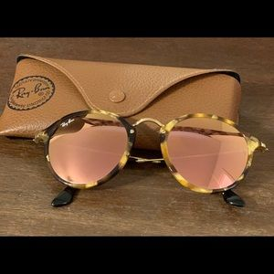 Authentic Ray-Ban Round Fleck Flash Lenses